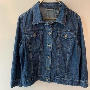 DKNY trendy soft blue jean jacket  sz XL